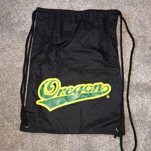 Black oregon ducks drawstring bag
